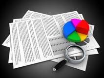 3d documents Stock Photo