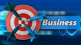 3d doel met bedrijfsteken Stock Afbeelding