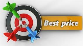 3d doel met beste prijsteken Royalty-vrije Stock Afbeelding