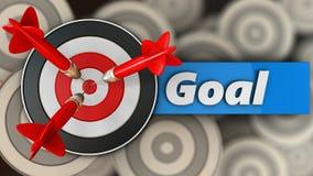 3d doel met doelteken Stock Afbeelding