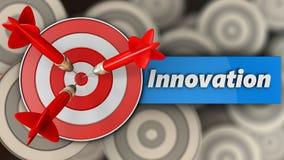 3d doel met innovatieteken Royalty-vrije Stock Afbeeldingen