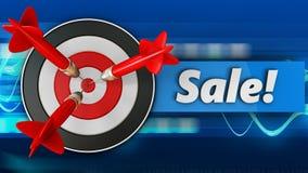 3d doel met verkoop Stock Foto's