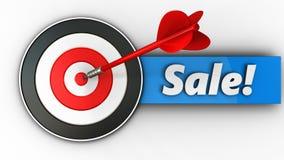 3d doel met verkoop vector illustratie