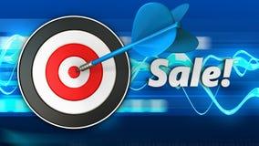 3d doel met verkoop stock illustratie