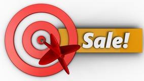 3d doelcirkels met verkoop Stock Foto's
