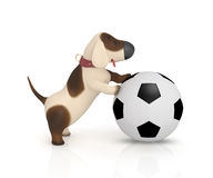 3d dog with a ball. Stock Images