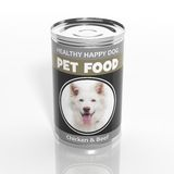 3D dog food metallic can. On white Stock Image