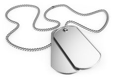 3D Dog tags Stock Photo