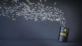 3d 100 dolarów banknot lata nafciany zbiornik Obrazy Stock