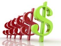 3D Dollar Royalty-vrije Stock Afbeeldingen