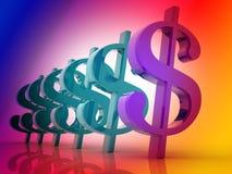 3D Dollar Royalty-vrije Stock Fotografie