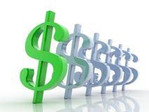 3D Dollar Stock Afbeeldingen