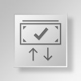 3D dollar Button Icon Concept Royalty Free Stock Images