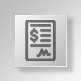 3D  dollar contract Button Icon Concept Royalty Free Stock Images