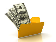 3d dollar in Folder Stock Image