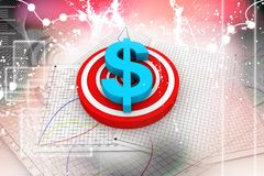 3d dollar symbol Royalty Free Stock Photography