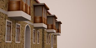 3d dom Zdjęcie Royalty Free