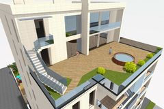 3D dom odpłaca się w Armenia Zdjęcie Royalty Free