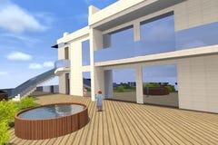 3D dom odpłaca się w Armenia Obraz Royalty Free