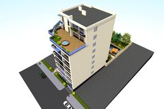3D dom odpłaca się w Armenia Fotografia Royalty Free