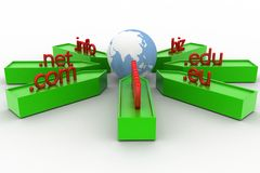 3d domain names Royalty Free Stock Photography