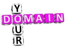 3D Domain Your Crossword Stock Image