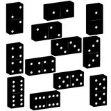 3D domino black set vector illustration on white background.  Stock Photography