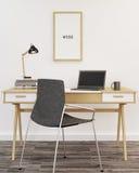 3d domowy wewnętrzny nowożytny biuro odpłaca się Obraz Stock
