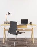 3d domowy wewnętrzny nowożytny biuro odpłaca się Fotografia Stock