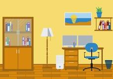 3d domowy wewnętrzny nowożytny biuro odpłaca się Obrazy Royalty Free