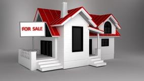 3d domu reklama dla sprzedaży Obrazy Royalty Free