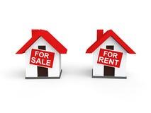 3d domy dla sprzedaży i czynszu royalty ilustracja