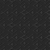 3D donkere document kunstcontrole Diamond Cross Line Frame stock illustratie