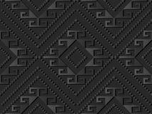 3D donkere document Lijn van Diamond Spiral Cross Frame Dot van de kunstcontrole stock illustratie