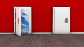 3d door open and close Stock Images