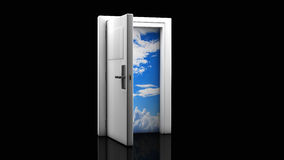 3d door open Stock Photos