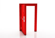 3d door open Stock Photo