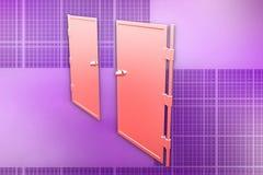 3d doors illustration Stock Image