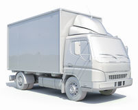 3d Doręczeniowej ciężarówki Biała ikona Obrazy Royalty Free