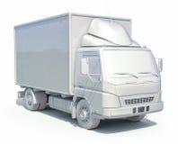 3d Doręczeniowej ciężarówki Biała ikona Zdjęcie Stock