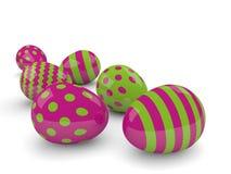 3d dostępni tła Easter jajka vector wersja biel Ilustracja Wektor