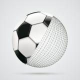 3d Dots Football conectado esfera Foto de archivo