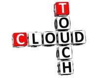 3D dotyka chmury Crossword Fotografia Royalty Free