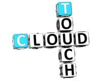 3D dotyka chmury Crossword Obrazy Royalty Free