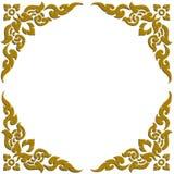 3D dourados cinzelam do teste padrão tailandês ilustração stock