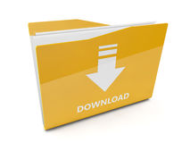 3d download folder Stock Photo