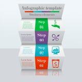 3D drabinowy infographic szablon Zdjęcia Stock