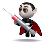 3d Dracula blood injection Royalty Free Stock Photos