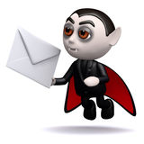3d Dracula mail Stock Photography