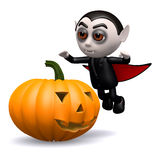 3d Dracula pumpkin Royalty Free Stock Photography